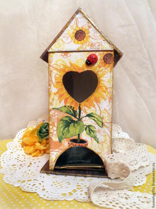"""Кухня ручной работы. Ярмарка Мастеров - ручная работа. Купить Чайный домик """"Подсолнухи"""". Handmade. Желтый, чайный домик купить"""