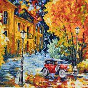 """Картины ручной работы. Ярмарка Мастеров - ручная работа Вышитая картина """"Осенний марафон"""". Handmade."""