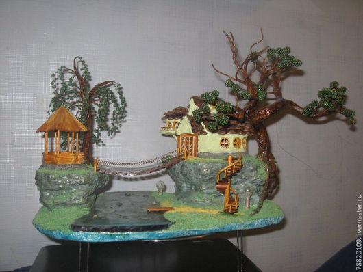 Деревья ручной работы. Ярмарка Мастеров - ручная работа. Купить дерево из бисера с подсвткой. Handmade. Деревья из бисера, ночник из бисера