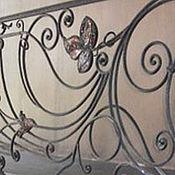 Для дома и интерьера handmade. Livemaster - original item Forged fence with fusing inserts