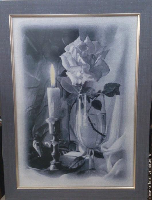 Натюрморт ручной работы. Ярмарка Мастеров - ручная работа. Купить Вышитая картина Натюрморт (ручная вышивка крестиком) разм 37см х 50см. Handmade.