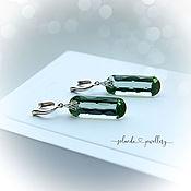 Украшения handmade. Livemaster - original item Earrings with green quartz. Handmade.