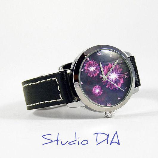 Часы Цветы 3D. Студия Дизайнерских Часов DIA.