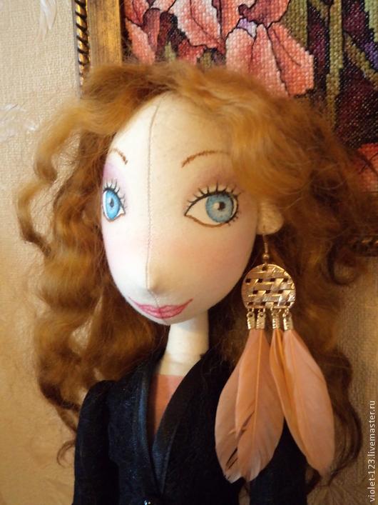 Куклы тыквоголовки ручной работы. Ярмарка Мастеров - ручная работа. Купить Кукла интерьерная Марина.. Handmade. Разноцветный, подарок женщине