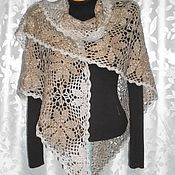 Аксессуары handmade. Livemaster - original item shawl crochet. The taste of wormwood.. Handmade.