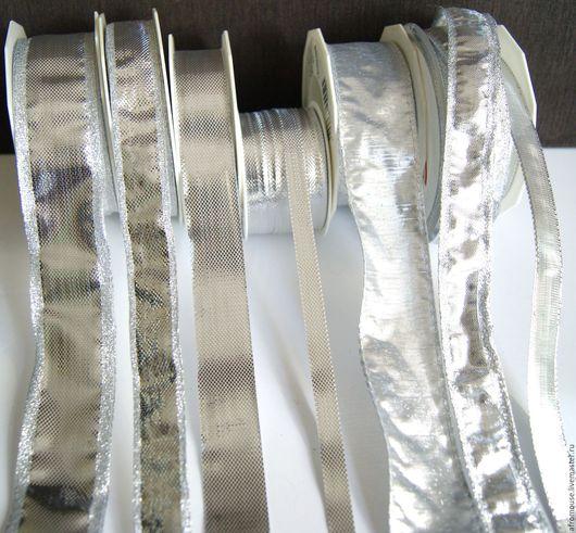 ленты `Серебро гладкое ` металлизированные