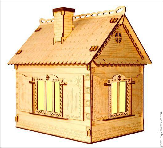 Кукольный дом ручной работы. Ярмарка Мастеров - ручная работа. Купить Кукольный домик с мебелью и освещением. Handmade. Кукольный дом