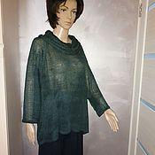 Одежда handmade. Livemaster - original item Silk tunic Evening forest. Handmade.