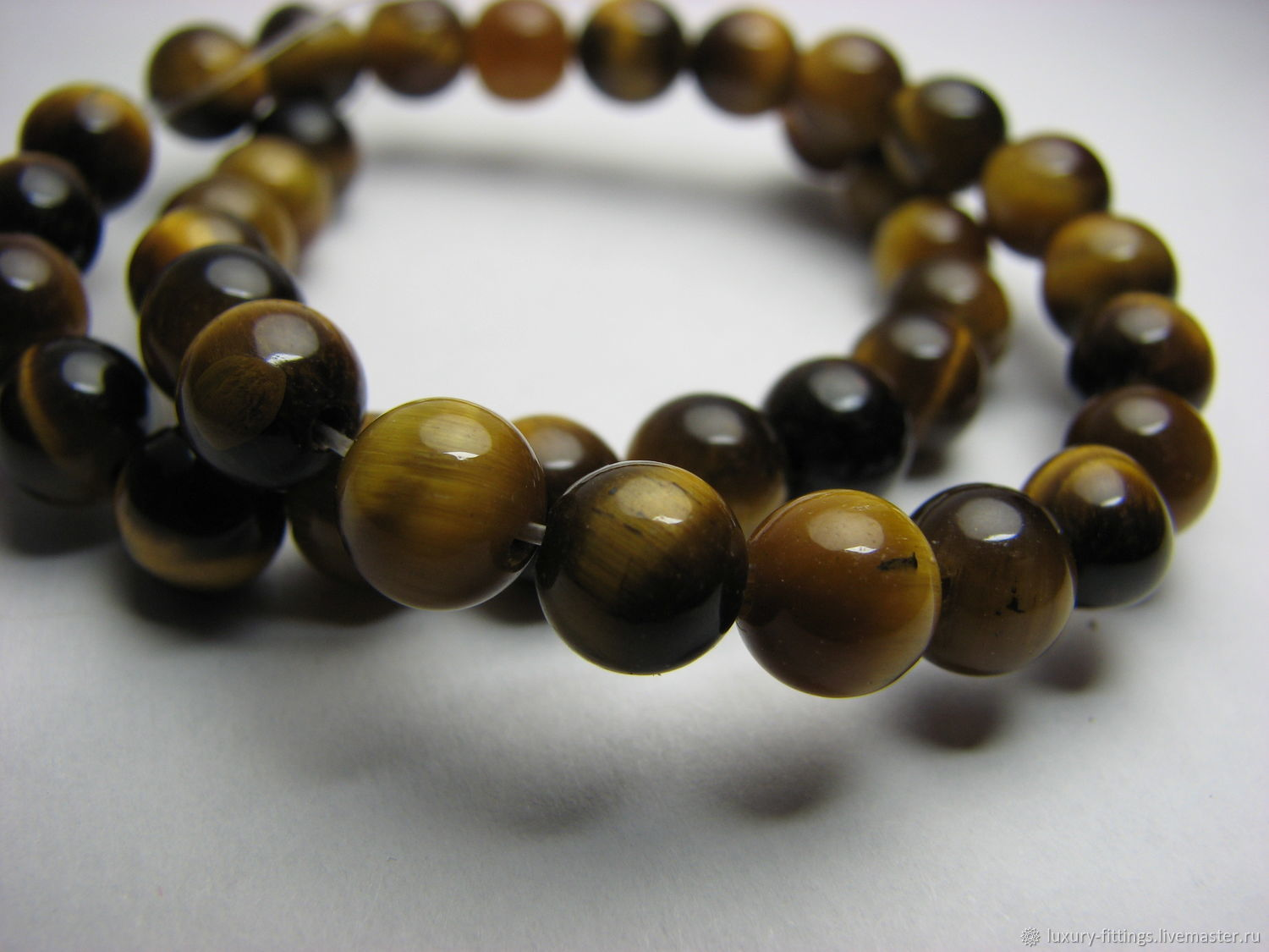 Tiger eye bead, 6mm, Beads1, Moscow,  Фото №1
