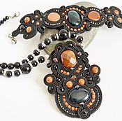 Украшения handmade. Livemaster - original item Soutache necklace