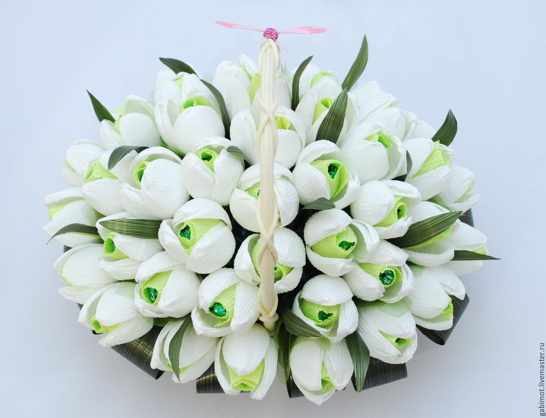 Мастер класс корзина цветы из конфет и гофрированной бумаги