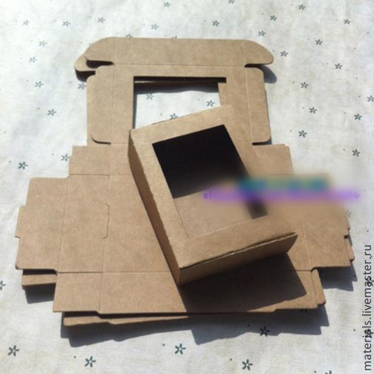Упаковка ручной работы. Ярмарка Мастеров - ручная работа. Купить Картонная коробочка с окном. Handmade. Упаковка, коробочка, коробки