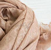 """Палантины ручной работы. Ярмарка Мастеров - ручная работа Палантин женский из ткани FENDI """"Monogram"""" хлопок, коричневый. Handmade."""