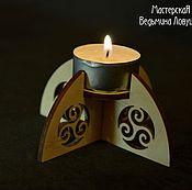 Для дома и интерьера ручной работы. Ярмарка Мастеров - ручная работа Подсвечник деревянный, белый. Handmade.