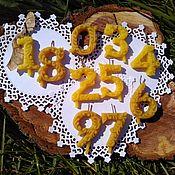 Свечи ручной работы. Ярмарка Мастеров - ручная работа Свечи:  резные свечи-топперы для торта. Handmade.