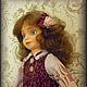 Коллекционные куклы ручной работы. Анюта. Авторская кукла.. Лидия Kalambet. Ярмарка Мастеров. Кукла текстильная, хлопок 100%