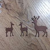 Материалы для творчества handmade. Livemaster - original item !Cutting for scrapbooking-DEER, deer Family, NEW YEAR, design cards. Handmade.