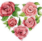 Картины и панно ручной работы. Ярмарка Мастеров - ручная работа Сердце из цветов. Handmade.