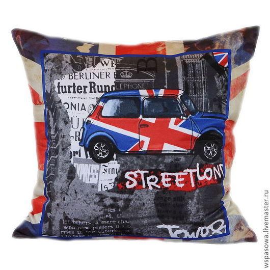 Текстиль, ковры ручной работы. Ярмарка Мастеров - ручная работа. Купить Подушка Лондон. Handmade. Лондон, в английском стиле, синий