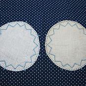 Винтаж handmade. Livemaster - original item Two linen napkins with embroidery. Handmade.