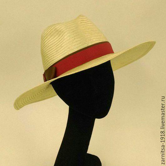 Шляпы ручной работы. Ярмарка Мастеров - ручная работа. Купить Ш3486 Летняя мужская - соломенная шляпа. Handmade. Бежевый, шляпа