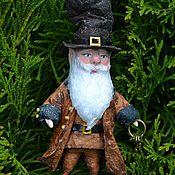 Куклы и игрушки handmade. Livemaster - original item Cotton Christmas toy Gnome with keys. Handmade.