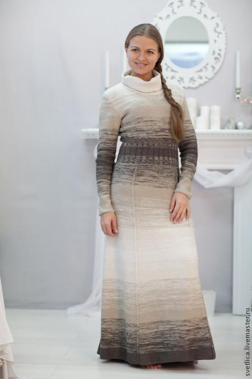 Платье длинное для работы