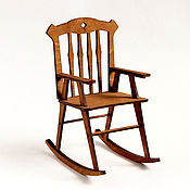 Мебель для кукол ручной работы. Ярмарка Мастеров - ручная работа Кресло-качалка №2 для кукол форматов 1:6, 1:4 МСД, 1:3 СД. Handmade.