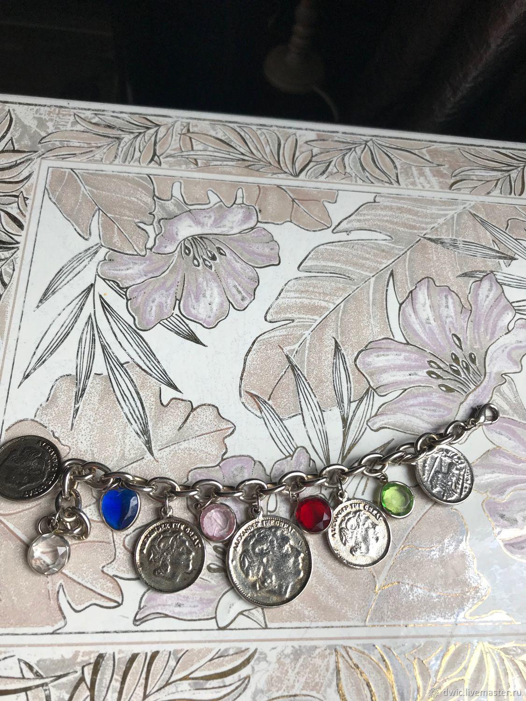 Bracelet 'Coins', Holland, Vintage bracelets, Arnhem,  Фото №1