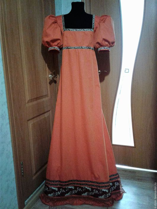 Карнавальные костюмы ручной работы. Ярмарка Мастеров - ручная работа. Купить Средневековое платье. Handmade. Рыжий, сценический костюм, хлопок