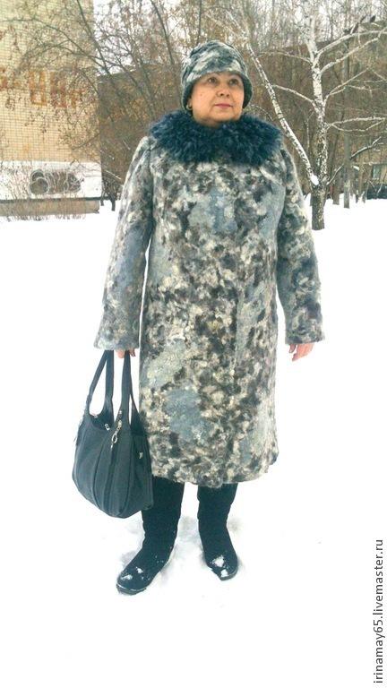 """Верхняя одежда ручной работы. Ярмарка Мастеров - ручная работа. Купить Зимнее пальто """" Зимние узоры """". Handmade."""