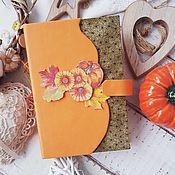 """Блокноты ручной работы. Ярмарка Мастеров - ручная работа Блокнот-Мидори """"Осень"""". Handmade."""