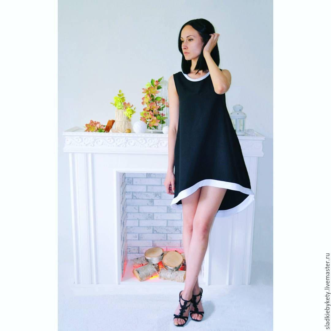 Платье из габардина модели