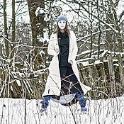 Одежда ручной работы. Ярмарка Мастеров - ручная работа Пальто скат белое. Handmade.