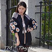 Одежда ручной работы. Ярмарка Мастеров - ручная работа Вышиванка блузка женская вышитая лен,бохо, этно стиль. Handmade.