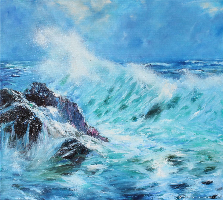 Картина Море Морская волна Шторм, Картины, Санкт-Петербург,  Фото №1