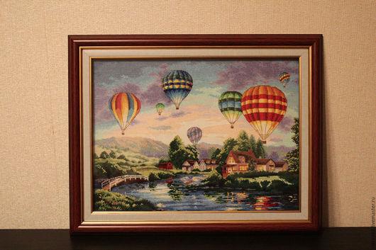 Пейзаж ручной работы. Ярмарка Мастеров - ручная работа. Купить парад шаров. Handmade. Коричневый, воздушный шар, природа, пейзаж