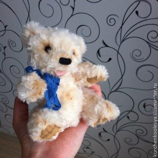 Мишки Тедди ручной работы. Ярмарка Мастеров - ручная работа. Купить Медвежонок Умка. Handmade. Бежевый, светлый, вискоза, подарок
