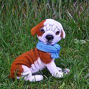 Куклы и игрушки handmade. Livemaster - original item Felted dog. The puppy American bulldog. ( Felted toy). Handmade.
