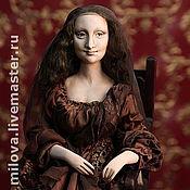 Куклы и игрушки ручной работы. Ярмарка Мастеров - ручная работа Кукла Мона-Лиза Джоконда. Папер-клей, по картине Леонардо да Винчи. Handmade.