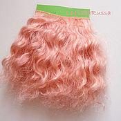Материалы для творчества handmade. Livemaster - original item Copy of Copy of Copy of Mohair wefted doll hair. Handmade.