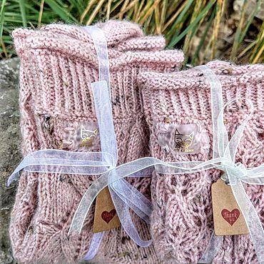Аксессуары ручной работы. Ярмарка Мастеров - ручная работа Вязанные Носки спицами для принцессы. Handmade.