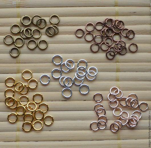 Для украшений ручной работы. Ярмарка Мастеров - ручная работа. Купить 50 шт.Колечки соединительные 5 мм. Handmade.