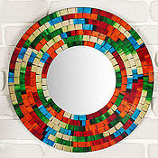 """Для дома и интерьера ручной работы. Ярмарка Мастеров - ручная работа Зеркало """"Мозаика"""" 40 см. Handmade."""