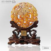 Фен-шуй и эзотерика handmade. Livemaster - original item Jade Amulet on a wooden stand. Handmade.