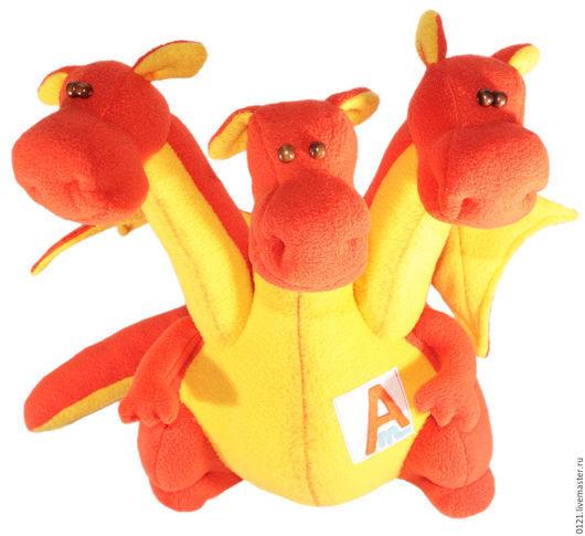 Игрушки животные, ручной работы. Ярмарка Мастеров - ручная работа. Купить Змей Горыныч мягкая игрушка на заказ. Handmade. Рыжий