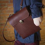 Сумки и аксессуары handmade. Livemaster - original item Brooklin leather backpack with wooden inserts. Handmade.