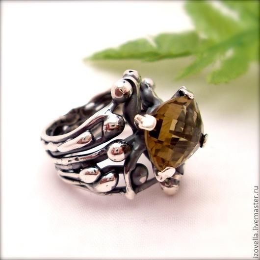 """Кольца ручной работы. Ярмарка Мастеров - ручная работа. Купить Кольцо """"Маргарита Королева"""" - натуральный оливковый кварц, с. Handmade."""