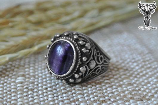 Кольца ручной работы. Ярмарка Мастеров - ручная работа. Купить Кольцо с флюоритом, кольцо флюорит, перстень с флюоритом. Handmade.