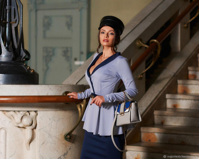Платье с воротом шалькой и баской, Платья, Санкт-Петербург, Фото №1